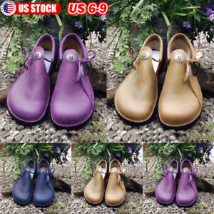 US-WOMEN-039-S-FLAT-LEATHER-FLATS-SHOES-SLIP-ON-COMFY-CASUAL-SHOES-PUMPS-SIZE-4-7