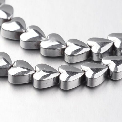 Hématite Perles Coeur 20st 6 mm EUROBAROMETRE #7085 Silver