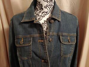 CROFT-BARROW-women-039-s-blue-denim-jean-jacket-sz-Medium-NWOT