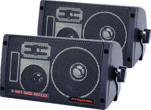 Pair New Pyramid 2060 300 Watts 3-Way Mini Box Speaker System