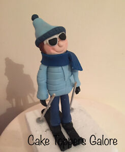 "TOPPER 7/"" PRE-CUT WINTER SNOWBOARDING CAKE C VII 18CM EDIBLE WAFER DECORATION"