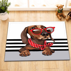Pet-Dachshund-Dog-Home-Nonslip-Floor-Rug-Bedroom-Carpet-Kitchen-Doormat-Bath-Mat