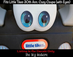 Replacement-Decals-fits-30th-Little-Tikes-Cozy-Coupe-Car-Blue-Eye-Pupil-Custom