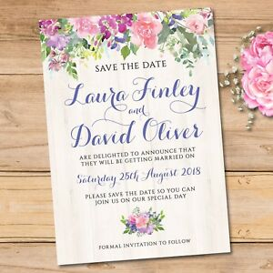 pink save the date cards