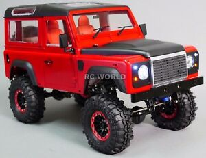 rc land rover defender 90 scale truck kit w metal chassis. Black Bedroom Furniture Sets. Home Design Ideas