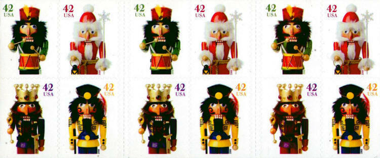 2008 42c Holiday Nutcrackers, Booklet of 20 Scott 4360-