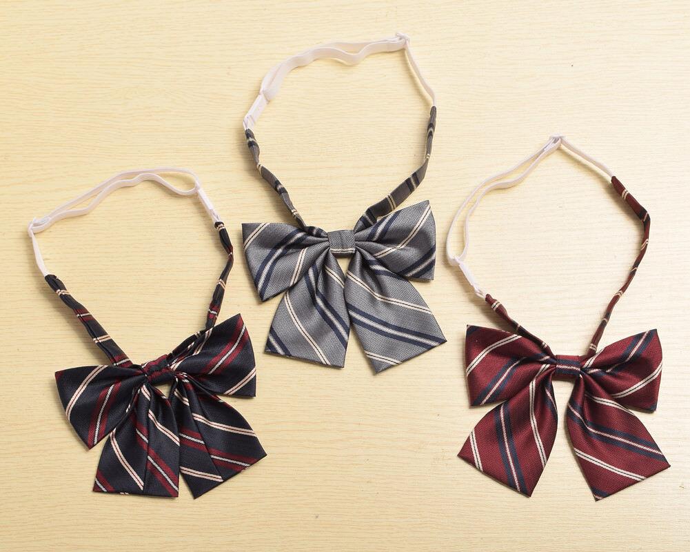 Japanese Bow Tie Necktie JK Uniform Accessory Unisex Preppy Striped