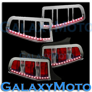 10 12 ford mustang taillight tail light trim bezelred led light bar image is loading 10 12 ford mustang taillight tail light trim aloadofball Images