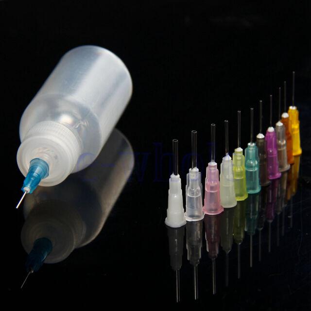 30ml Needle Dispenser Bottle for Rosin Solder Soldering Liquid+12 Needles WT