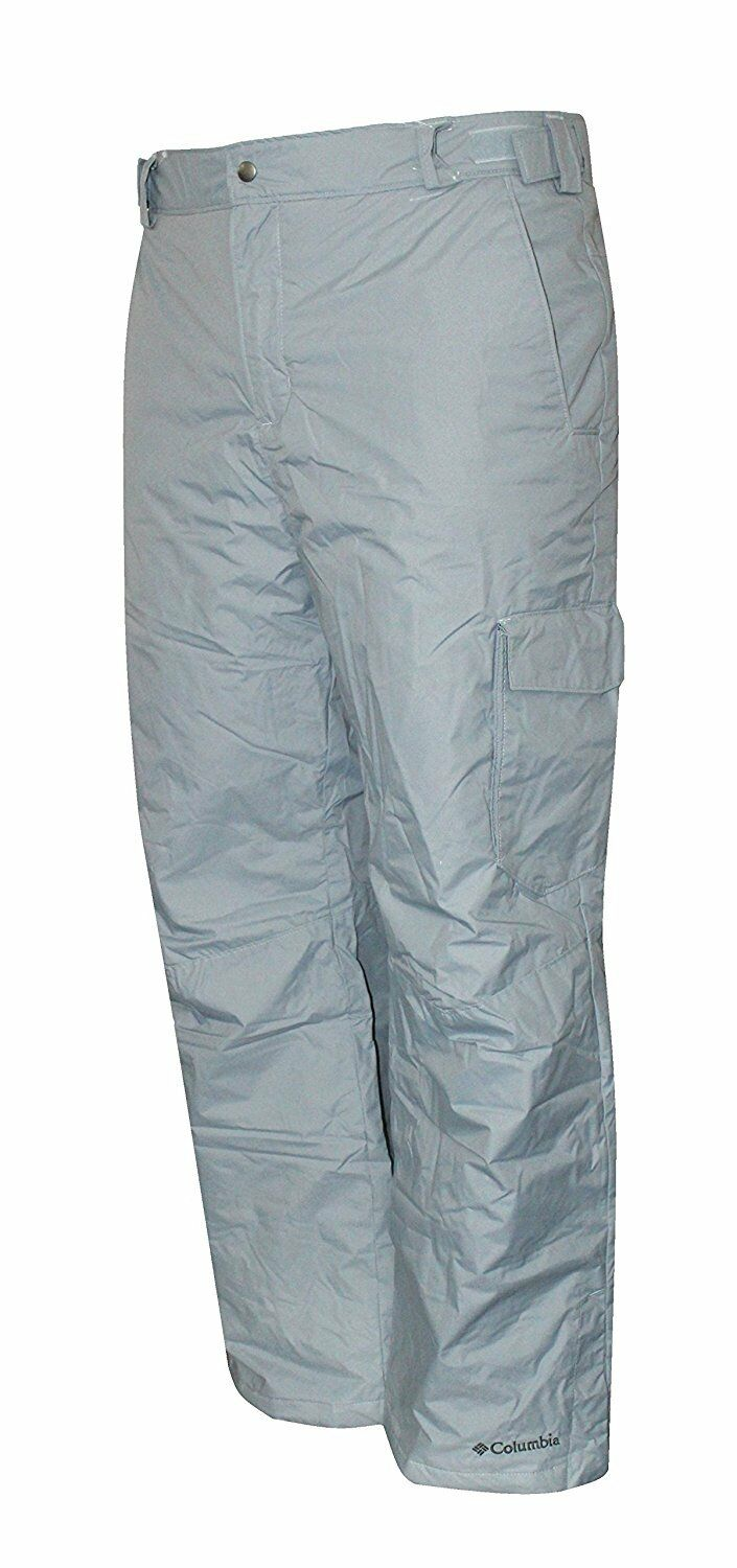 Mens XXL Columbia Bull Lake Cargo Insulated Waterproof Ski Pant GREY SNOW PANTS