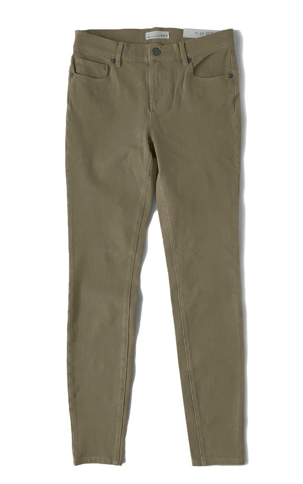 LOFT - Womens 2 (XS) 29  Olive Denim Stretch Performance Legging Jeans