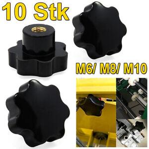 M8 Sterngriffmutter 10 schwarz