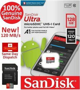 SanDisk Ultra Micro SD 32GB 64GB 128GB Class 10 Memory Card + Adapter SDXC SDHC