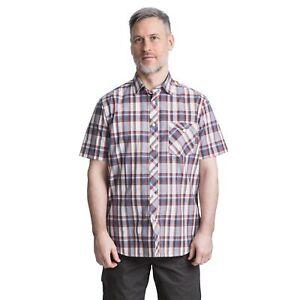 Trespass-Kenora-Mens-Short-Sleeved-Checked-Shirt-Summer-Casual-Top