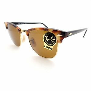 2282baab7b Details about Ray Ban 3016 New Authentic Sunglasses 1160 Clubmaster Spotted  Brown Havana B15