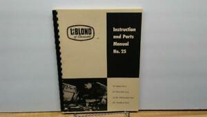 """Leblond 16"""" 20"""" Lathe Instruction & Parts Manual Factories And Mines Cnc & Metalworking Supplies Metal Fabrication"""