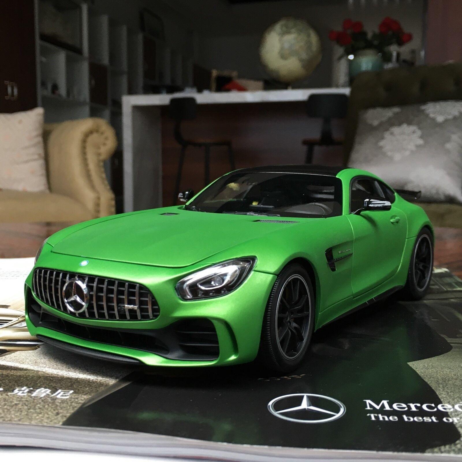 minorista de fitness Nuevo 1 18 Mercedes Mercedes Mercedes Benz AMG GT casi reales R 2017 Modelo de Coche Cierre Abierto verde Mate  Venta barata