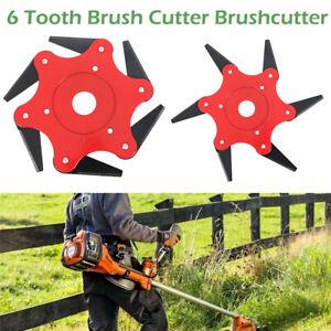 6-Tooth-Garden-Lawn-Mower-Blade-Manganese-Steel-Grass-Trimmer-Brush-Cutter-Head