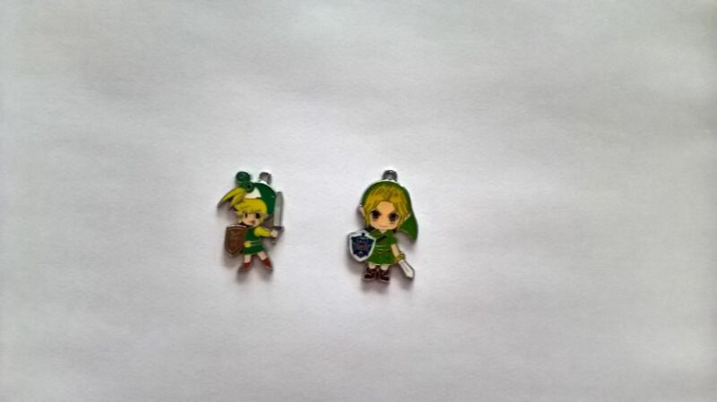 Set Of 2 X Zelda Metal Charms