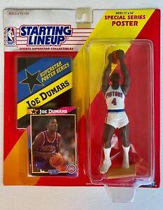 1992 STARTING LINEUP JOE DUMARS #4 Detroit Pistons  WITH CARD + poster