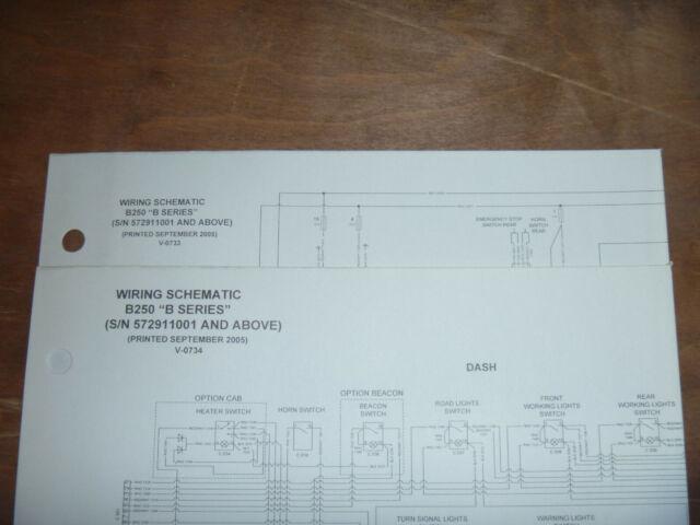 Bobcat B250 Backhoe Loader Electrical Wiring Diagram