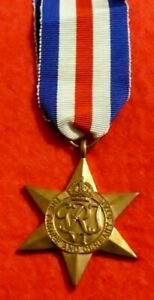 France and Germany Star a Campaign Medal Issued to Commonwealth Forces in WW2
