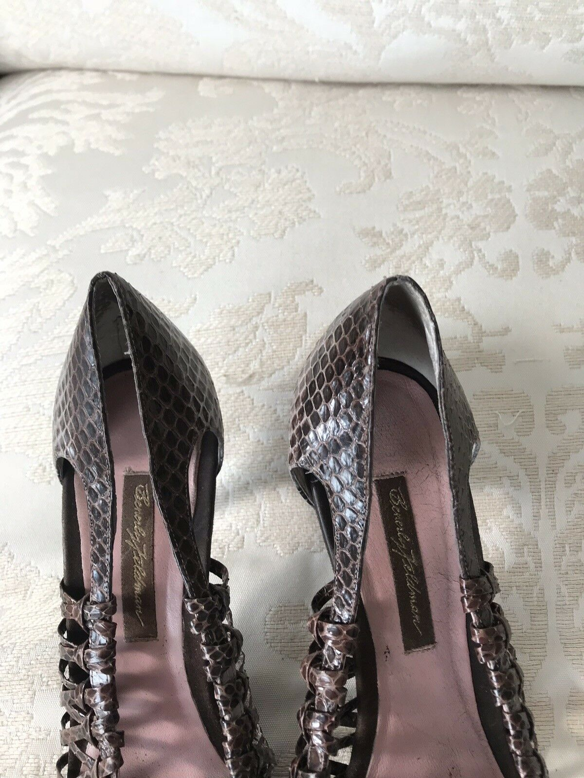 Beverly Feldman Snakeskin Snakeskin Snakeskin Leather Pumps schuhe Pointed Heels 11 M 11M 25ba96