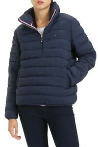 TOMMY JEANS Women's TJW Quilted Half-Zip Puffer Jacket ...