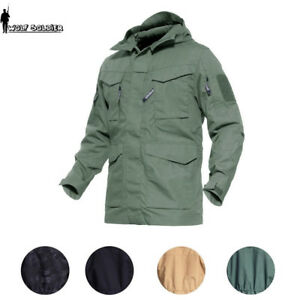 M65 Combat Field Jacket Mens Military Army Coat Tactical Waterproof Hooded Parka