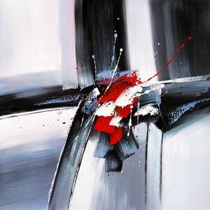 Tableau-abstrait-moderne-tableau-peinture-decoration-rouge-noir-blanc-chassis