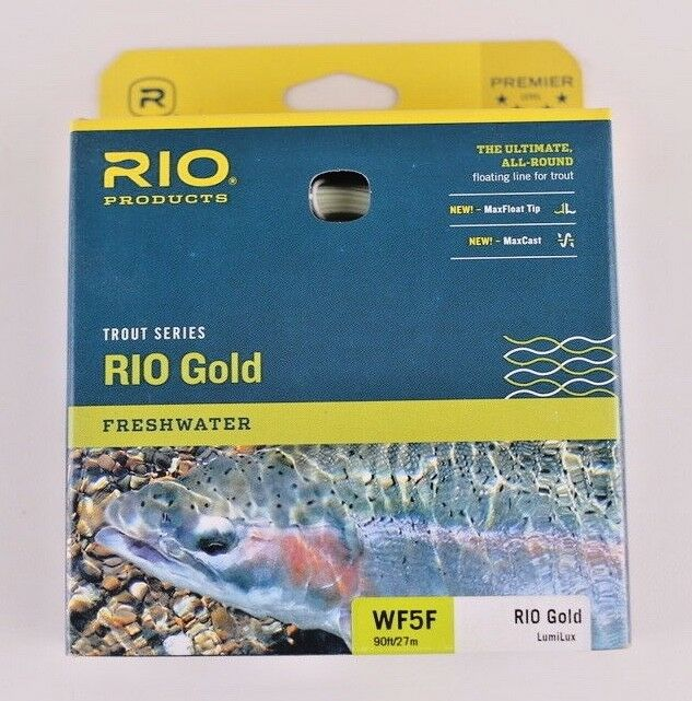 Rio gold Lumalux Fly Line WF5F GLOWS IN THE DARK Free Fast Shipping 6-21210