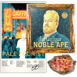 Jim-Gaffigan-Signed-Pizza-Ashtray-034-Noble-Ape-034-Vinyl-and-034-Pale-Tourist-034-Poster