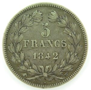 FRANCE-1842-5-FRANCS-SILVER-COIN