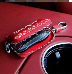 Supreme-car-key-leather-case-Keychain-brand-new