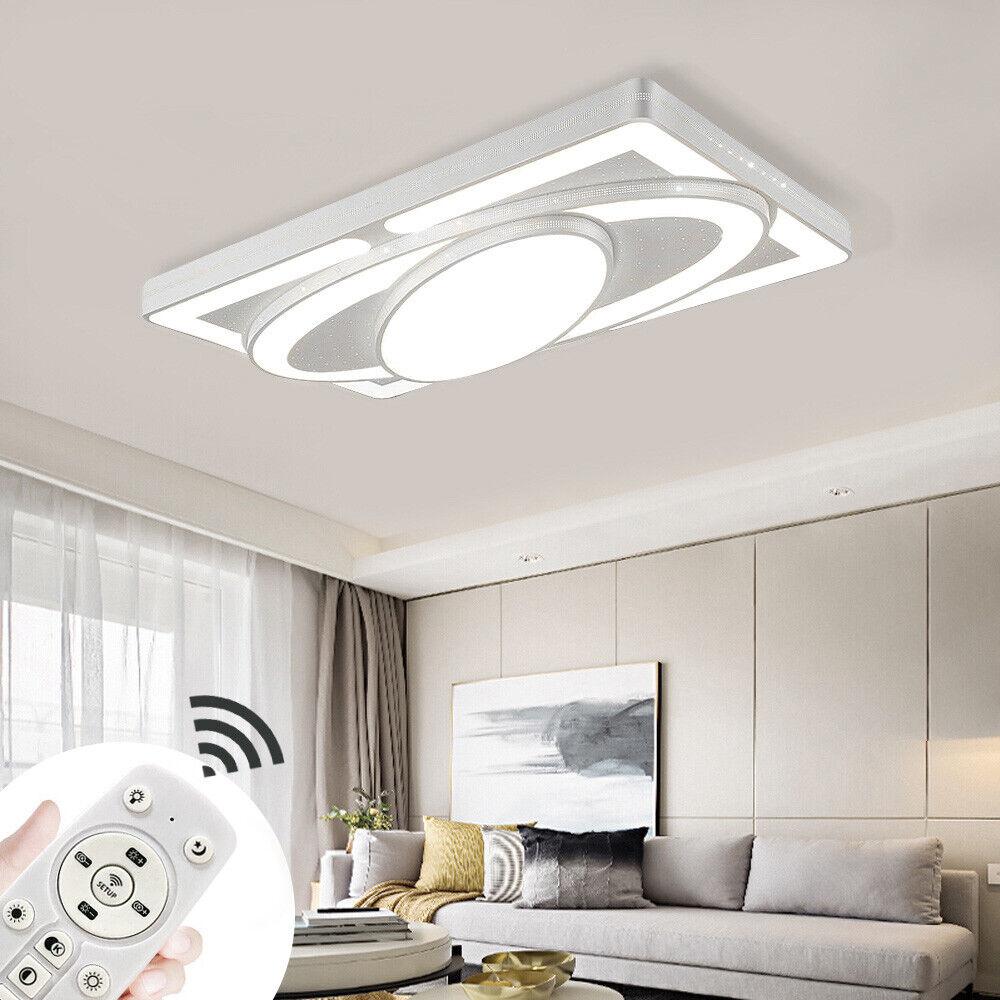 Wei/ß, 90W-Warmwei/ß Deckenlampe LED Deckenleuchte 90W Wohnzimmer Lampe Modern Deckenleuchten Kueche Badezimmer Flur Schlafzimmer