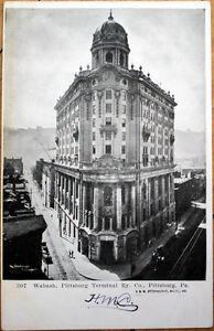 1905-Pittsburgh-PA-Postcard-Wabash-Pittsburg-Terminal-Railway-Co-Pennsylvania