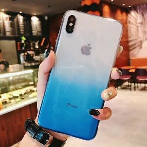 68d21eb7d7e80 Details about Shockproof Gradient Ombre Soft TPU Case Cover For iPhone XS  Max XR X 6s 7 8 Plus