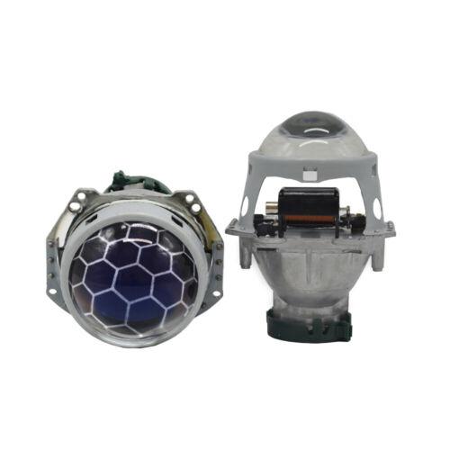 3.0/'/' Blue Bi xenon Honeycomb Projector HID Lens Red Devil Eyes Headlights DIY