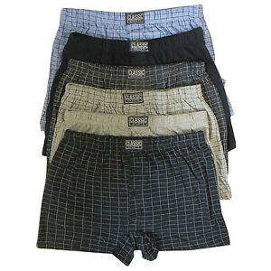 6-x-Mens-Natural-Cotton-Blend-Button-Fly-Jersey-Boxer-Shorts-Underwear-Boxers