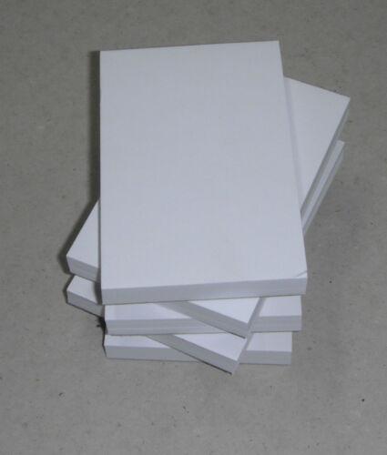 100 Sheets per pad 8 X A7 PLAIN WHITE PAPER MINI JOTTER// NOTE PADS