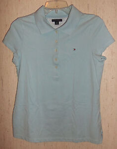 06beb7dd Image is loading WOMENS-JUNIORS-TOMMY-HILFIGER-LIGHT-BLUE-POLO-SHIRT-