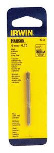 Irwin-Hanson-Hoch-Carbon-Stahl-4mm-0-70-mm-Metrisch-Stecker-Wasserhahn-1-Stk