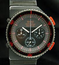 SEIKO Chronograph SPORTS 100 BISHOP ALIENS 7A28-6000 Rare GIUGIARO WATCH 80s VTG