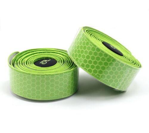Road Bike PU Tape Drop Bar Wraps Honeycomb Design Anti-sweat Shock 200 x 3cm
