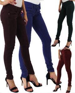 Skinny Jeans Para Mujer Elastizados Jeggings Senoras Pantalones Fit Color Senoras Nuevo Control Ar Com Ar