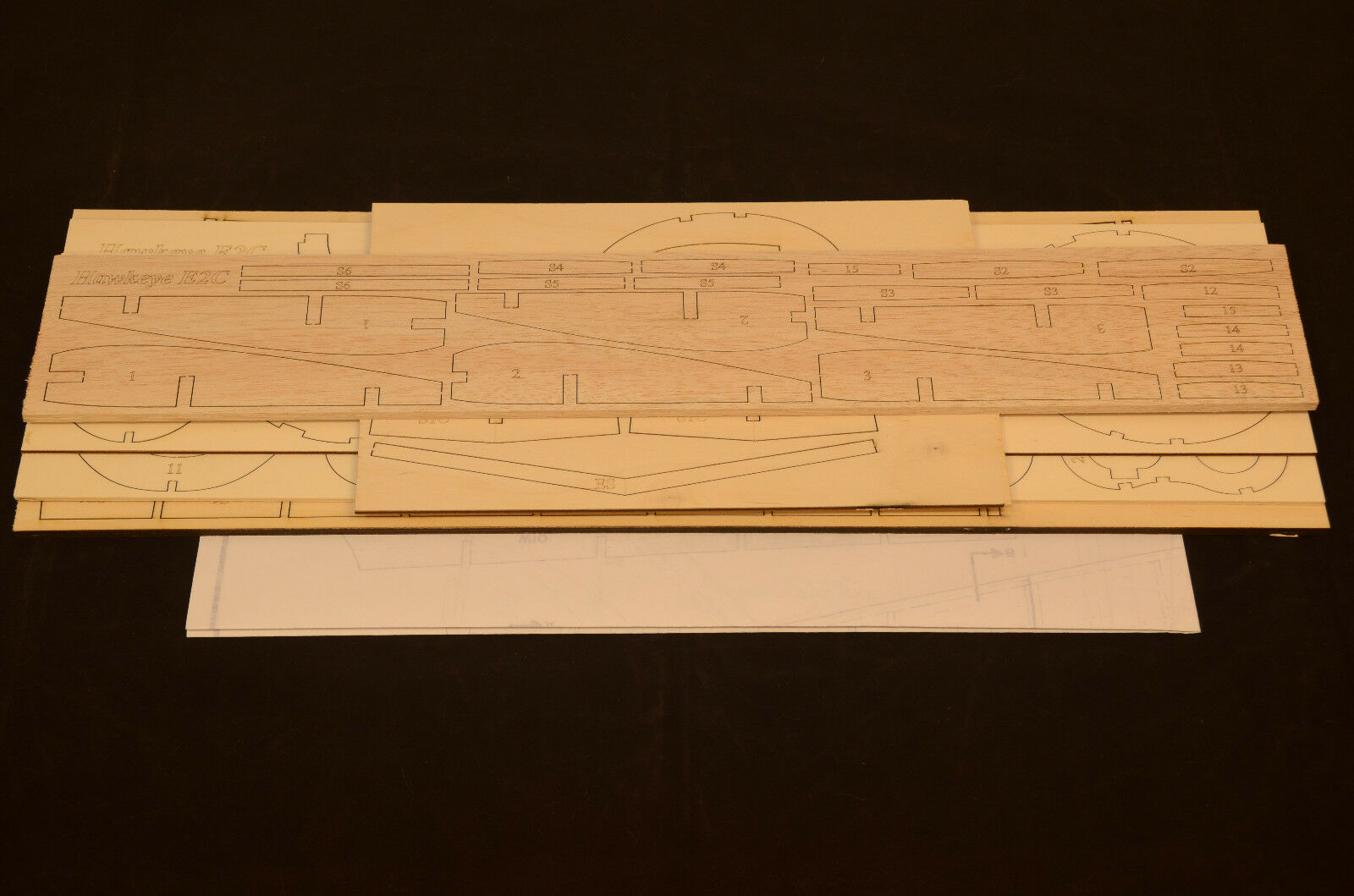 1 16 Scale GRUMMAN E2C HAWKEYE Laser Cut Short Kit & Plans 59.5 WS ELECTRIC
