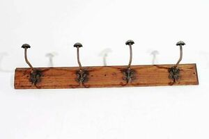 Antique Furniture Old Wardrobe Hangers Wall Coat Hook Rail