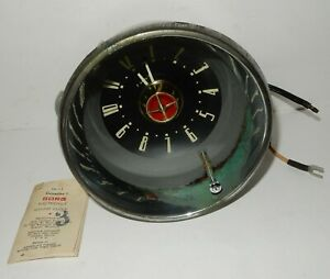Large-1952-NOS-STUDEBAKER-COMMANDER-BORG-CLOCK-Works