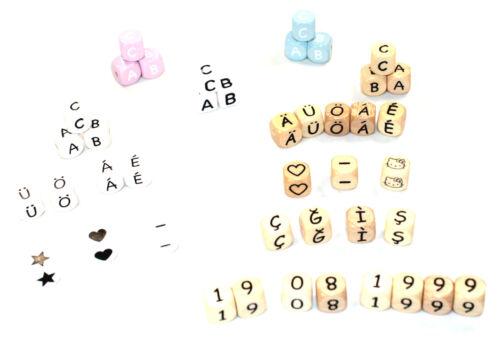Schnullerkette mit Namen Born in 2017 bunt Mädchen Junge Baby personalisiert