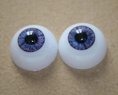 Acrylic Doll Eyes 22mm Doll Eyeball Half Round Purple Color For Bebe Reborn Baby